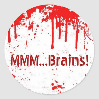 … Cerebros MMM Pegatina Redonda