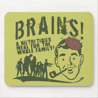 ¡Cerebros! Mouse Pad