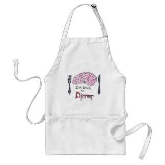 Cerebros para la cena delantal