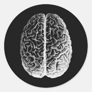 ¡Cerebros! Etiquetas Redondas
