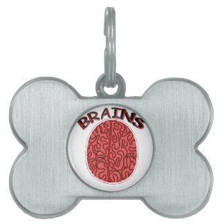cerebros placas de mascota
