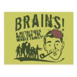 ¡Cerebros! Postal