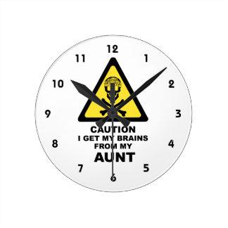 cerebros reloj redondo mediano