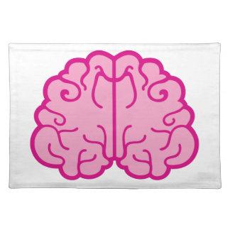 cerebros rosados simples manteles individuales