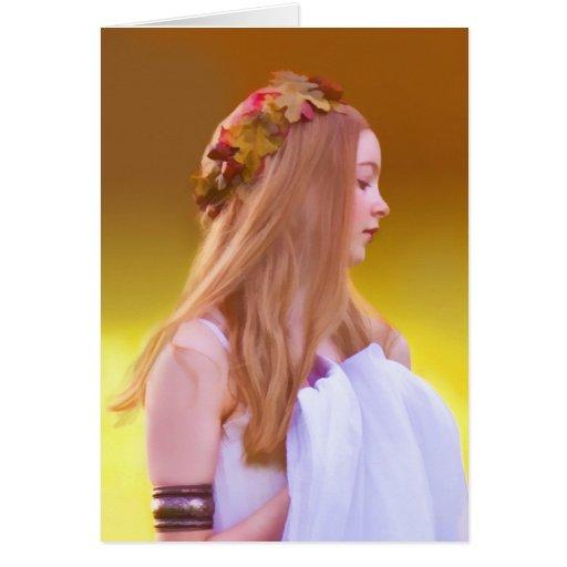 Cerelia, diosa de la nota del otoño o de la tarjeta de felicitación
