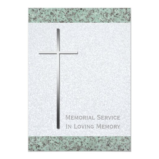 """Ceremonia conmemorativa cruzada de la piedra 2 del invitación 5"""" x 7"""""""