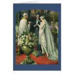 Ceremonia de boda de la iglesia del vintage; Novia Tarjeta De Felicitación
