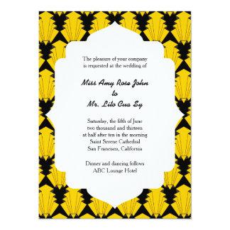 """Ceremonia de boda del art déco invitación 5.5"""" x 7.5"""""""