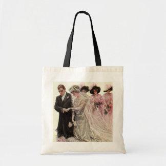 Ceremonia de boda del Victorian del vintage, novio Bolsa