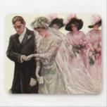 Ceremonia de boda del Victorian del vintage, novio Alfombrillas De Ratones