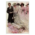 Ceremonia de boda del Victorian del vintage, novio Tarjeta De Felicitación