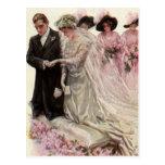 Ceremonia de boda del Victorian del vintage, novio Tarjeta Postal