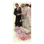 Ceremonia de boda del Victorian del vintage, novio Diseños De Tarjetas Publicitarias