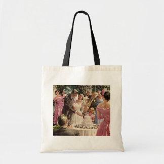 Ceremonia de boda del vintage bolsa tela barata