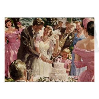 Ceremonia de boda del vintage tarjeta de felicitación