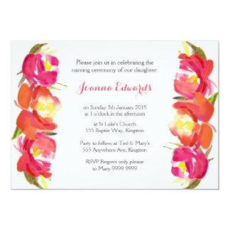 """Ceremonia de nombramiento floral de la acuarela invitación 5"""" x 7"""""""