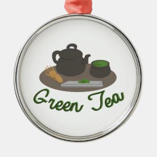 Ceremonia de té japonesa Gree Adorno Navideño Redondo De Metal