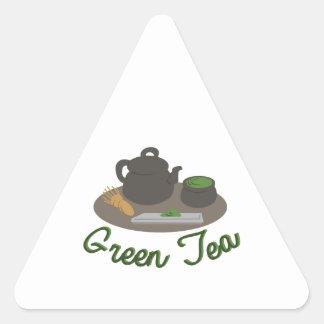 Ceremonia de té japonesa Gree Pegatina Triangular