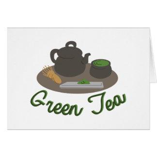 Ceremonia de té japonesa Gree Tarjeta De Felicitación