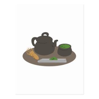 Ceremonia de té japonesa tarjeta postal