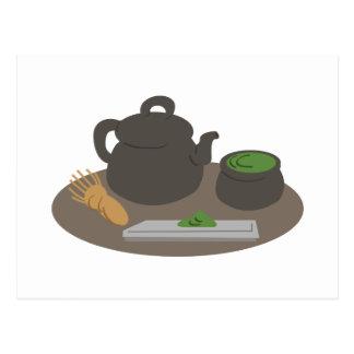 Ceremonia de té japonesa tarjetas postales