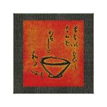 Ceremonia de té Sumi-e - lona envuelta Lona Estirada Galerias