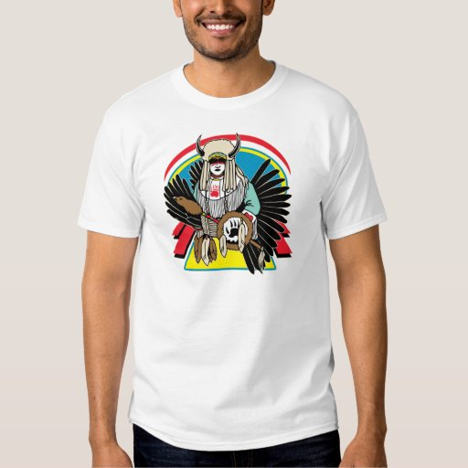 Ceremonia del nativo americano remera