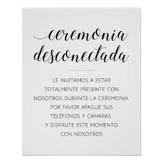 Ceremonia Desconectada Poster