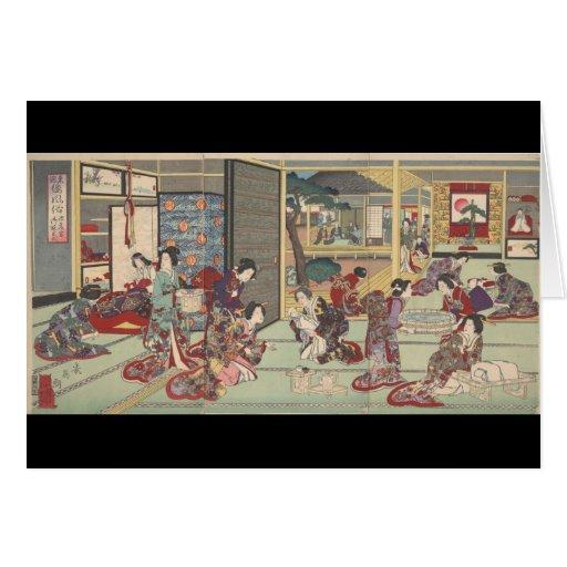 Ceremonia japonesa del nacimiento - notecard felicitaciones