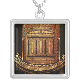 Ceremonial Chair of Tutankhamun Silver Plated Necklace