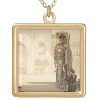Ceremonial Elephant, from 'The Jungle Book' by Rud Gold Plated Necklace
