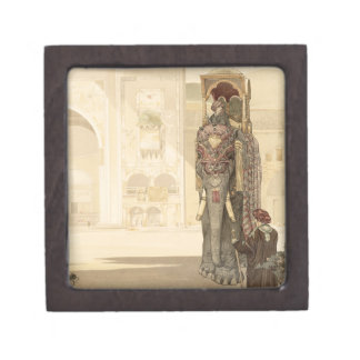 Ceremonial Elephant, from 'The Jungle Book' by Rud Premium Jewelry Box