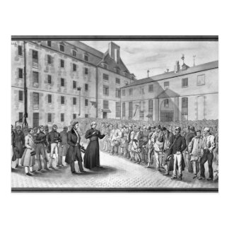 Ceremony before the departure of the convicts postcard