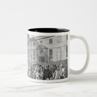 Ceremony before the departure of the convicts Two-Tone coffee mug