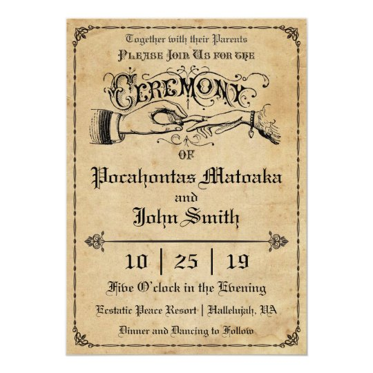 Vintage Wedding Invite: Ceremony Rustic Vintage Wedding Invitation