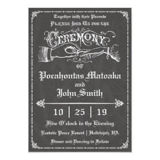 Ceremony Vintage Chalkboard Wedding Invitation