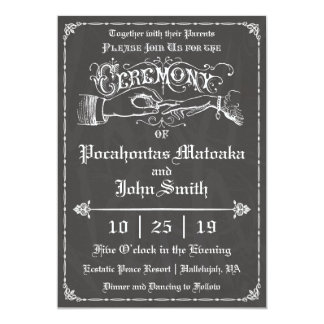 Ceremony Vintage Chalkboard Wedding Invitation