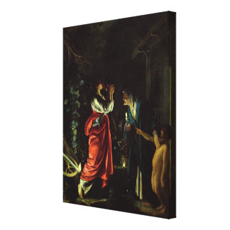 Ceres and Stellio (oil on copper) Canvas Print