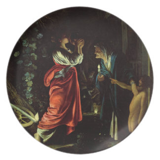 Ceres and Stellio (oil on copper) Melamine Plate