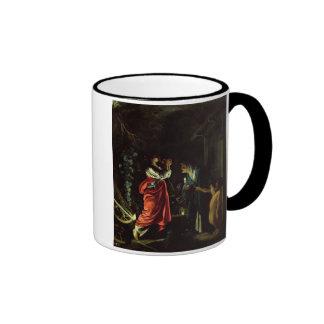 Ceres and Stellio (oil on copper) Ringer Mug