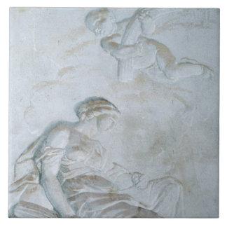 Ceres, c.1790 (el fresco) azulejo cuadrado grande