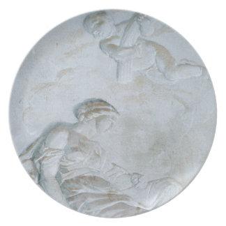Ceres, c.1790 (fresco) dinner plate