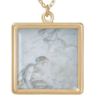 Ceres, c.1790 (fresco) gold plated necklace