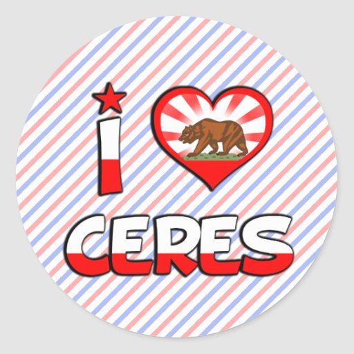 Ceres, CA Etiqueta Redonda