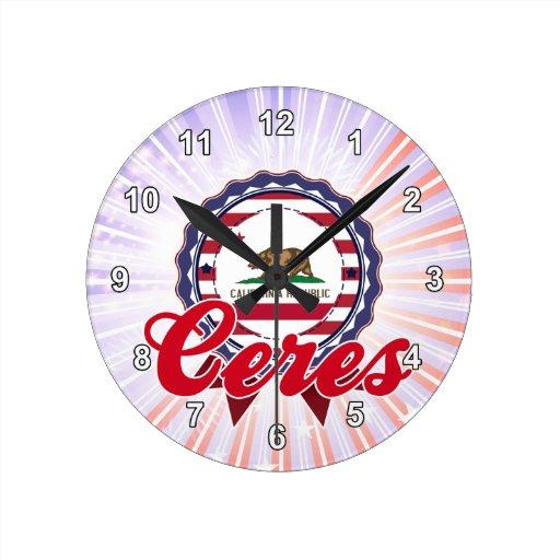 Ceres, CA Reloj De Pared