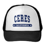 Ceres California College Style tee shirts Hats