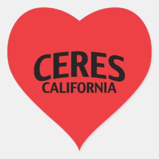 Ceres California Heart Sticker