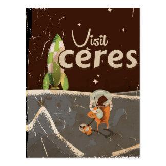 Ceres Dwarf Planet vintage travel poster Postcard