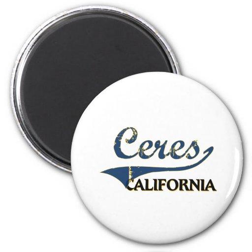 Ceres la obra clásica de la ciudad de California Imán Redondo 5 Cm
