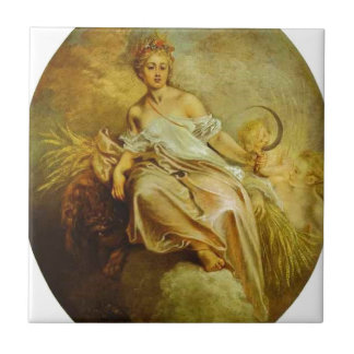 Ceres (Summer) by Antoine Watteau Ceramic Tile